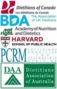 Valik toitumis- ja terviseorganisatsioone, mis on kinnitanud hästi kavandatud taimse toitumise ohutust.