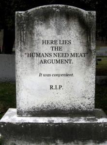 """Siin puhkab argument """"Inimesed vajavad liha"""". See oli mugav."""